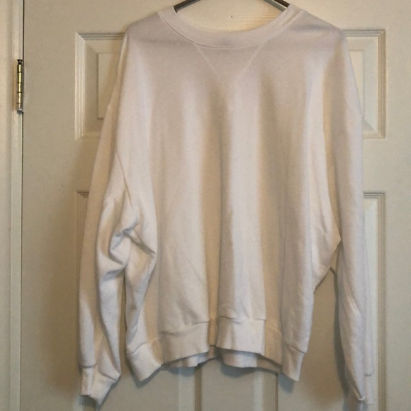 wild fable Tops - Solid white crew neck sweatshirt size L